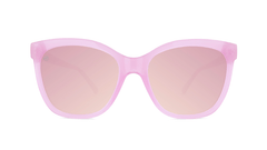 Sunglasses with Pink Lemonade Frames and Polarized Pink Lenses, Front