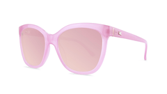 Sunglasses with Pink Lemonade Frames and Polarized Pink Lenses, Threequarter