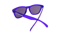 Classics Sunglasses with Purple Frames and Purple Mirrored Lenses, Back