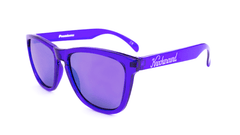 Classics Sunglasses with Purple Frames and Purple Mirrored Lenses, Flyover
