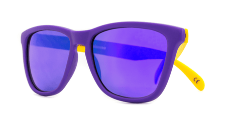 Knockaround Sunglasses Purple and Yellow / Purple Classics Front