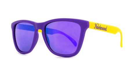 Knockaround Sunglasses Purple and Yellow / Purple Classics Threequarter