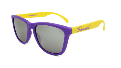 Knockaround Sunglasses Purple and Yellow / Smoke Classics Front