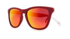 Knockaround Sunglasses Red and White / Red Sunset Collegiate Classics Front