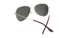 Sunglasses with Rose Gold Metal Frame and Polarized Copper Lenses, Back