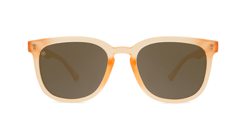Sunglasses with Rose Quartz Frames and Polarized Amber Lenses, Back