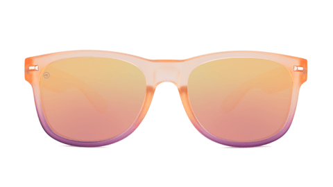 Sunglasses with Rose Quartz Frame and Polarized Rose Lenses, Back