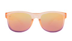 Sunglasses with Rose Quartz Frame and Polarized Rose Lenses, Front