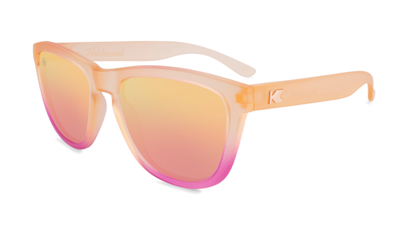 38cd02dc25a Sunglasses with Frosted Rose Quartz frame and polarized rose lenses