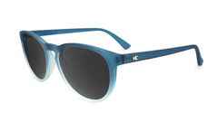 Sunglasses with Frosted Rubber Blue Ice Frames and Polarized Smoke Lenses, Flyover
