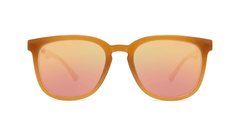 Sunglasses with Sacred Sands Frames and Polarized Rose Gold Lenses, Front