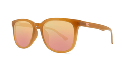 Sunglasses with Sacred Sands Frames and Polarized Rose Gold Lenses, Threequarter