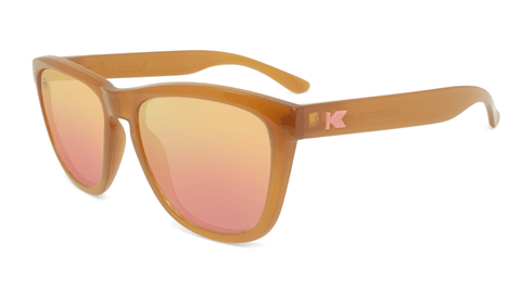 Sunglasses with Sacred Sands Frames and Polarized Rose Gold Lenses, Flyover
