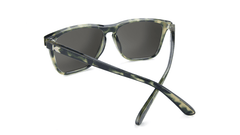 Sunglasses with Slate Tortoise Shell Frame and Polarized Sky Blue Lenses, Back