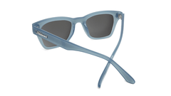 Sunglasses with Glossy Stormy Blue Frames and Polarized Sky Blue Lenses, Back