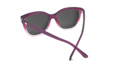 Sunglasses with Rose to White Fade Frames and Polarized Smoke Lenses, Back