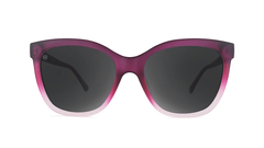 Sunglasses with Rose to White Fade Frames and Polarized Smoke Lenses, Front
