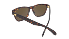 Deluxe Sunglasses with Glossy Tortoise Shell Frame and Polarized Amber Lenses, Back