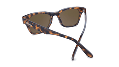 Sunglasses with Glossy Tortoise Shell Frames and Polarized Amber Lenses, Back