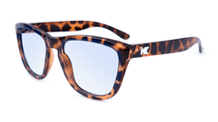 Sunglasses with Tortoise Shell Frame and Blue Light Blocker Lenses, Flyover