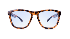 Sunglasses with Tortoise Shell Frame and Blue Light Blocker Lenses, Front