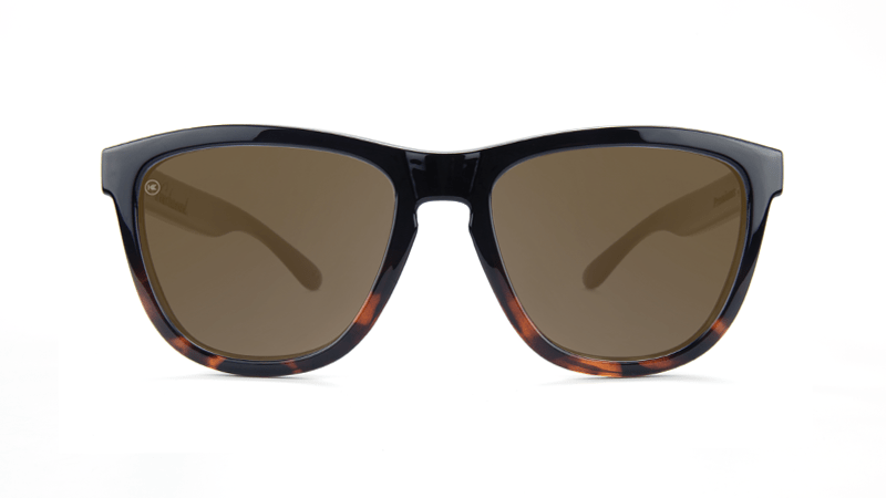 bebabdd073c ... Sunglasses with Glossy Black and Tortoise Shell Frame and Polarized  Amber Lenses