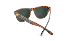 Premiums Sunglasses with Tortoise Shell Frames and Green Moonshine Mirrored Lenses, Back