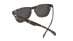 Sunglasses with Glossy Tortoise Shell Frame and Polarized Green Moonshine Lenses, Back