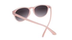 Sunglasses with Vintage Rose Frames and Polarized Smoke Gradient Lenses, Back