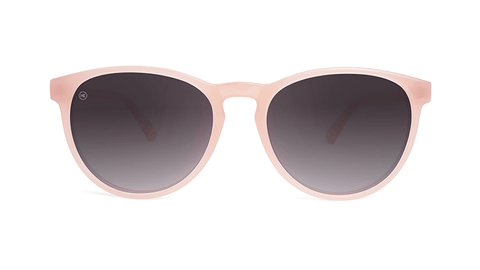 Sunglasses with Vintage Rose Frames and Polarized Smoke Gradient Lenses, Model