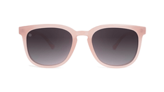 Sunglasses with Vintage Rose Frames and Polarized Smoke Gradient Lenses, Front