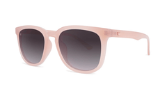 Sunglasses with Vintage Rose Frames and Polarized Smoke Gradient Lenses, Threequarter