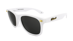Knockaround Sunglasses White with Smoke Lens Fort Knocks, Flyover