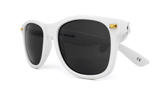 Knockaround Sunglasses White with Smoke Lens Fort Knocks, Front