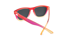 Sunglasses with Red and Yellow Frames and Polarized Green Lenses, Back