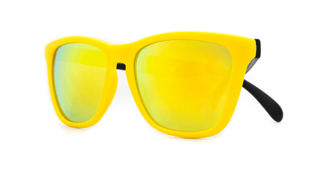 Knockaround Sunglasses Yellow and Black / Yellow Classics Front