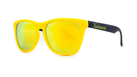 Knockaround Sunglasses Yellow and Black / Yellow Classics Threequarter