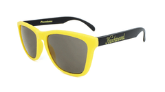 Knockaround Sunglasses with Yellow and Black / Smoke Classics Flyover