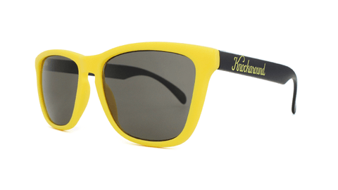 Knockaround Sunglasses with Yellow and Black / Smoke Classics Threequarter