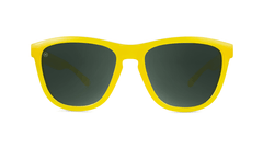 Sunglasses with Butterscotch Frames and Polarized Green Smoke Lenses, Front