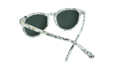 Mai Tais Sunglasses with Yellow Marble Frames and Green Moonshine Mirrored Lenses, Back