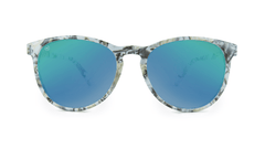 Mai Tais Sunglasses with Yellow Marble Frames and Green Moonshine Mirrored Lenses, Front