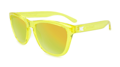 Premiums Sunglasses with Yellow Frames and Yellow Mirrored Lenses, Flyover