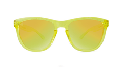 Premiums Sunglasses with Yellow Frames and Yellow Mirrored Lenses, Front
