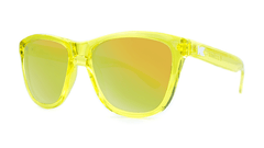 Premiums Sunglasses with Yellow Frames and Yellow Mirrored Lenses, ThreeQuarter