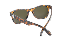 Kids Sunglasses with Tortoise Shell Frames and Brown Amber Lenses, Back