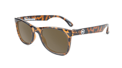Kids Sunglasses with Tortoise Shell Frames and Brown Amber Lenses, Flyover