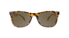 Kids Sunglasses with Tortoise Shell Frames and Brown Amber Lenses, Front