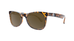 Kids Sunglasses with Tortoise Shell Frames and Brown Amber Lenses, ThreeQuarter