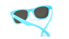 Kids Sunglasses with Turquoise Frames and Yellow Sunset Mirrored Lenses, Back